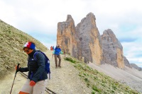 The other side of Tre Cime. Got a little chilly.