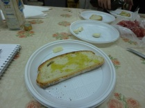 The grilled bread with the olive oil. Don't need anything else.