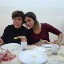 Paula and I enjoying the dinner.