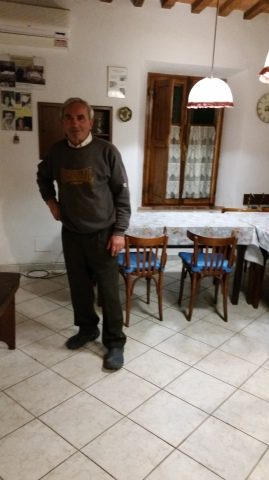 Ilio, owner of the store/restaurant