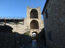 Inside the entrance of Monteriggioni