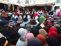 There were a few hats for sale in Campo dei Fiori.