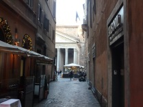 The view approaching the Pantheon.