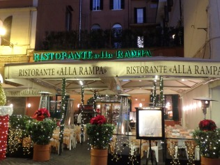 Ristorante alla Rampa, ready for Christmas