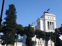A side view of the Monument to Vittorio Emanuele II