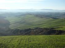 Mist, Rolling hills of Le Crete