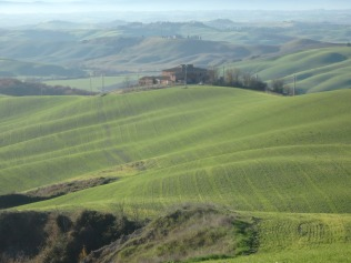 Rolling hills of Le Crete Senesi. (from Dec. 2015)
