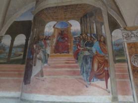 Fresco depicting a scene in St Benedict's life