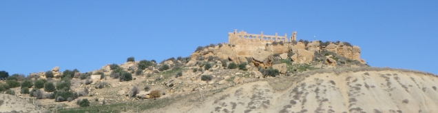 A view of the Greek temples in Agrigento.