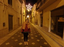 The main street in Grotte, Corso Garibaldi and my cousin Claudia