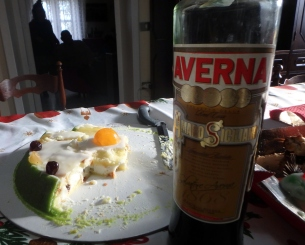 Cassata Siciliana and Averna because . . . Sicily.