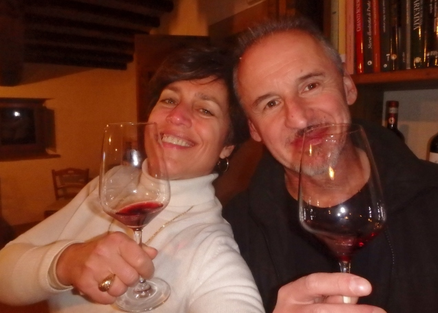 Me, Mauro, wine. Very good way to end a very good day.