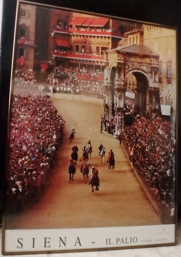 This is a picture of a poster I bought in Siena in 1986. 1986! I think this is a sign that I was always destined to return to Siena and see the Palio.