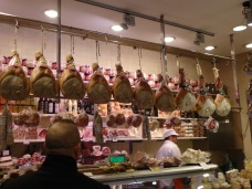 There's some prosciutto for sale.