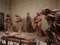 "One of my favorite sculptures in Bologna. ""Compianto sul Cristo Morto"" (Mourning of the dead Christ) by Niccolo' dell'Arca. It's even more impressive because it's done in terracotta."