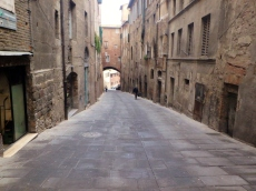 A typical street in Siena. Who needs a gym?