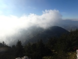 On top of Mt. Cammarata. Clouds. We were up about 5,000 feet.