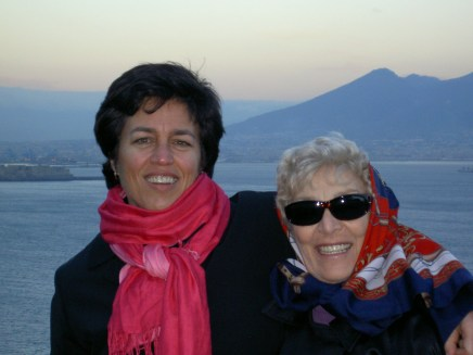 Me and Mom outside the Bay of Naples. Italy trip 2004