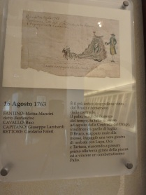 The oldest drappellone won by Il Bruco, dated 1763.