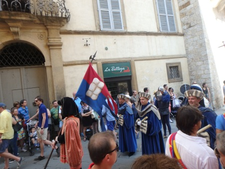 Part of the Corteo Storico. This procession snakes through city streets before arriving in the Piazza.