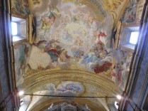 The ceiling of the church of the Unicorn contrada.