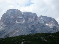 A view of the Croda Rossa (Red Wall) Mountain group, which we cover on day two.