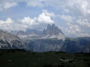The Tre Cime di Lavaredo from atop Monte Specie, 7,500 feet up.