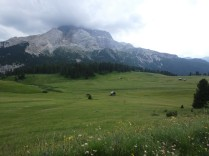 On the way to Rifugio Prato Piazza, set in this gorgeous alpine pasture. It's almost too picturesque. (Is that possible?)