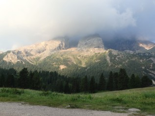 The view from Rifugio Prato Piazza. I was seeking a rainbow.