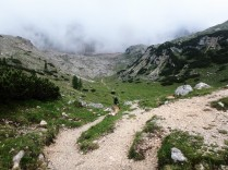 Entering the valley under the Croda Rossa.