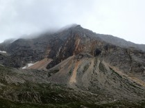 The Croda Rossa, or Red Wall. Despite the clouds and rain, it was still something to see.