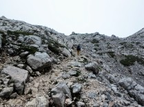 This is the path that we climbed for a good while. Very steep and rocky.