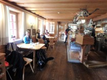 At the Rifugio Lavarella, where we enjoyed a delicious piece of apple strudel.