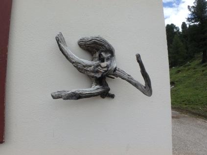 Artwork outside a rifugio. Different.