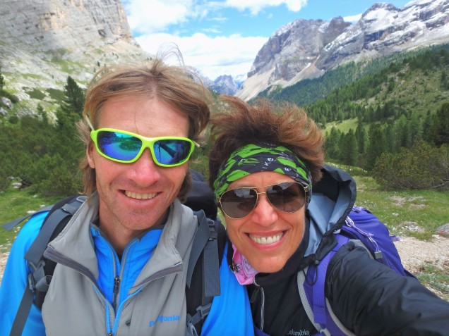 Me and Peter, the coolest guide in the Dolomites.