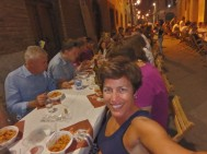 Dinner in the Torre contrada Thursday evening. Me and 700 of my closest friends.