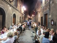 Dinner in the Torre contrada Thusday evening.