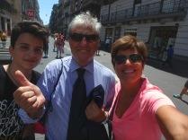 Lorenzo, Antonio and I as we begin the Naples excursion.