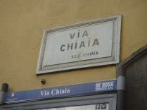 Via Chiaia, a chic shopping street in Naples, also a locale in the Ferrante books.