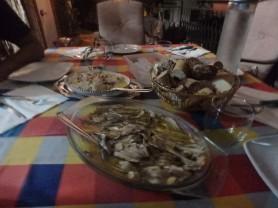 First course: bacala' crudo, sardines. Yum.