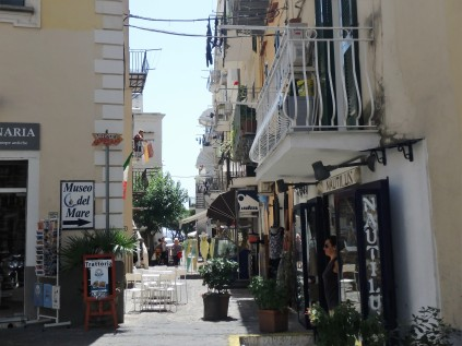 Shopping street on Ischia