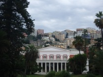 A view of the Vomero district, a wealthy area of Naples. In front is the Villa Pignatelli, now a museum, once the home of Diego Aragona Pignatelli Cortes.