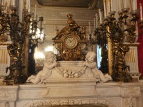 Inside the Villa Pignatelli, the mantle piece above the fireplace.