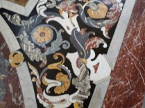 The inlaid marble floor by Cosimo Fanzago inside the San Martino Church.