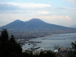 The view of Mt Vesuvius fromup above