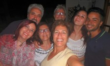 My longtime friends: L to R; Rita, Fausto, Gina, me, Antonio, Rossella and Francesco