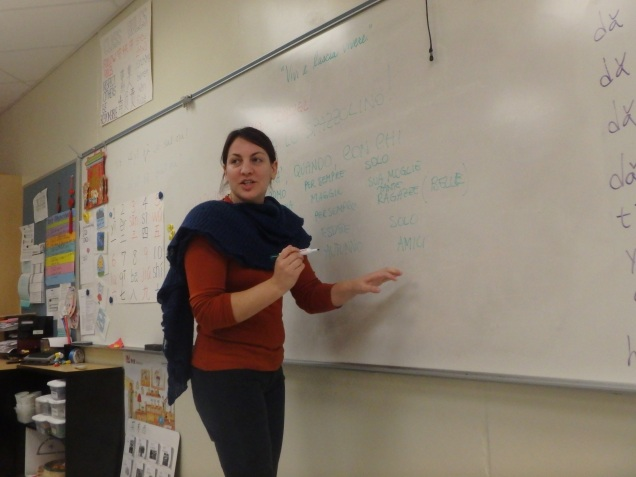 Instructor Valeria di Cristofaro during a lesson. She never speaks English during classes.