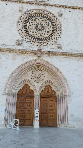 The facade of the Upper Basilica, Assisi.