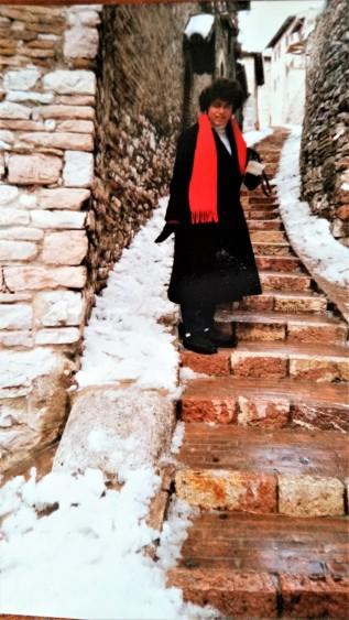 Me, in Assisi, December 1986.