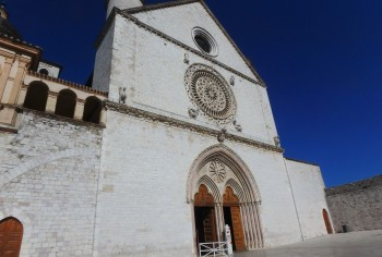 The Basilica of San Francesco, Assisi, the facade of the Upper Basilica.